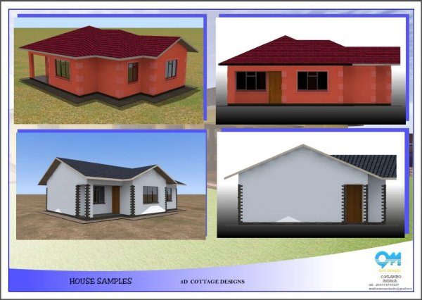 House building plan drawing 3d modelling animation for Home designs zimbabwe