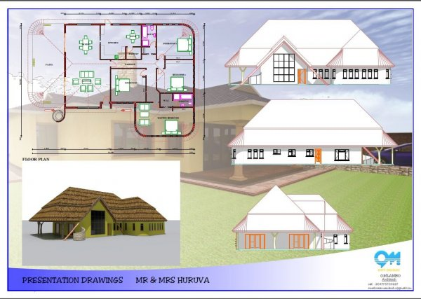 House building plan drawing 3d modelling animation for Interior designs zimbabwe